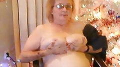 Exposed and Unaware Wife Cora Christmas Titties