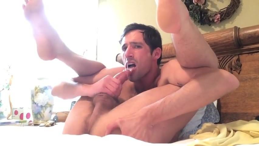 Self suck felattio cum eating