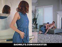 BadMilfs - Skinny Teen Has Threesome With Stepmom