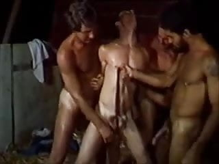 Retro Homosexual Rough Fuck Orgy