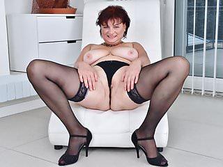Euro gilf Danja strips off and dildo fucks herself