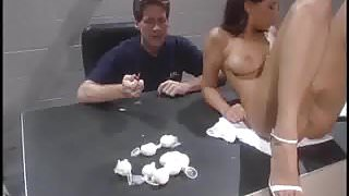 Naive young Haley caught and strip searched