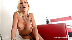 Euro babe Puma Swede Gets Off With Glass Dildo!'s Thumb