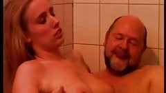 Young Blonde Teen Girl Sucking & Fucking Old Man