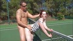 Girls horny tennis
