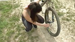 Sport Teen With Pierced Nipples Fucked Outdoors