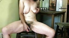 Older mature with nice hairy bush