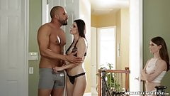 Interracial sex with hot babes Alice March and India Summer