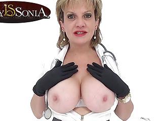 Jerk off instructions from naughty nurse Lady Sonia