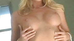Blonde Shawna Lee strips and finger M22