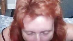 Redhead blowjob