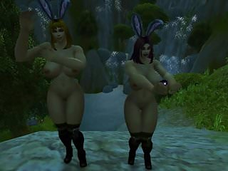 Preview 6 of Warcraft Busty Human Bunnies