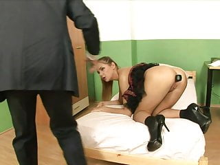 Randy teacher shoves a butt plug into hot schoolgirl's ass