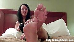 You cum for feet jerk off instruction