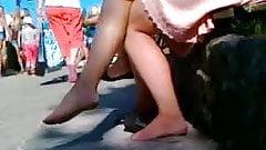 cute feet Candid