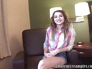 College girl gets filled up with cum
