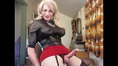 Shemale Tanny CD Slut Fiona big tits & cock Panyhose