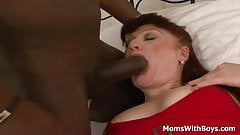 Redhead Mama Esmeralda Sauced With A Big Black Cock