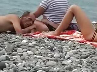 Nude beach old man