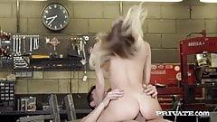 Private.com - Hot Biker Chick Natalia Starr Gets Cum Facial!