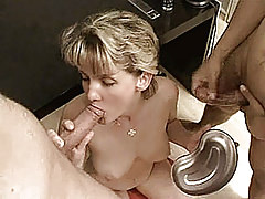 Naughty amateur Milf homemade anal threesome with cumshots