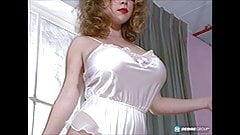 Tracey West trying on lingerie (with bush!) -- remix