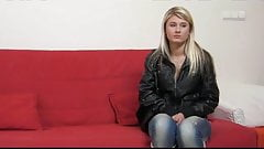 Casting - 18 Year Old Blonde Takes Her First Step Into Porn