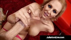 Beautiful Busty Milf Julia Ann Gives Hot Blowjob & Handjob!
