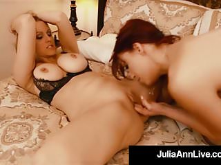 Lesbian Milfs Julia Ann & Nicki Hunter Finger Fuck & Suck!