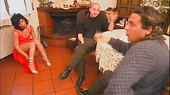 Hairy Italian Anal Threesome
