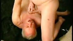 Grandpa get cum in his mouth