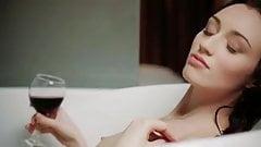 Beautiful skinny erotic girl, pure art