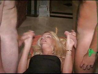bukkake with beautiful blonde 4