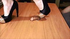 my new battle spike heels fighting a penis