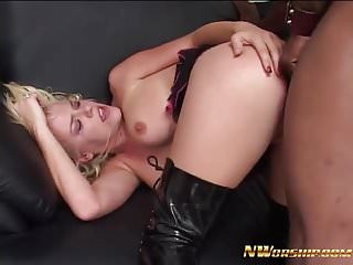 hot blonde slut get fucked by big black cock anal sex