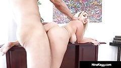 Big Butt Boss Nina Kayy Bangs Big Black Cock Employee!