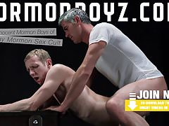 MormonBoyz - Older cult leader daddy fucks young submissive
