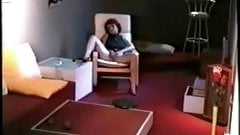 Hidden cam caught my mom home alone rubbing her pussy