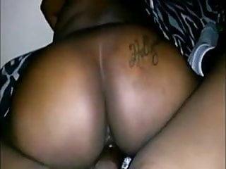 Big ass ebony woman rides dick reverse