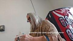 Big panty big ass white granny upskirt