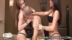 Satiny Miranda and Belina Ferraz - Shemales Domination