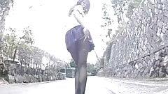 pleated skirt upskirt