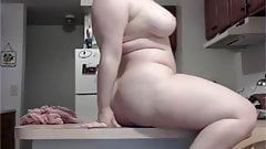 Chubby Big Ass Milf Enjoying Big Dildo In Her Tight Pussy