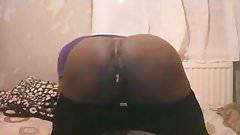 pushung cum out my ass