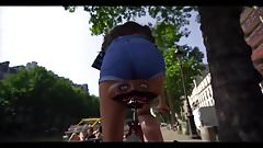 Reincarnation 1 - today: In bicycle saddle of young women