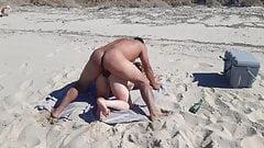 In a private beach