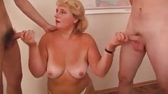 SEXY MOM n95 blonde mature in threesome