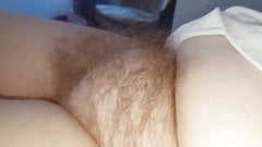 wifes tired fluffy hairy pussy early morning,hidden