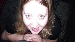 BBW Wife Sucking Dick Gets Facial