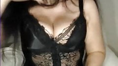 My MILF Exposed busty mom in black stockings